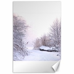 Winter Snow Ice Freezing Frozen Canvas 24  X 36  by Celenk