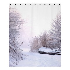 Winter Snow Ice Freezing Frozen Shower Curtain 60  X 72  (medium)  by Celenk