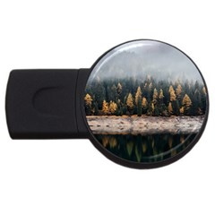Trees Plants Nature Forests Lake Usb Flash Drive Round (2 Gb) by Celenk