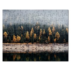 Trees Plants Nature Forests Lake Rectangular Jigsaw Puzzl by Celenk