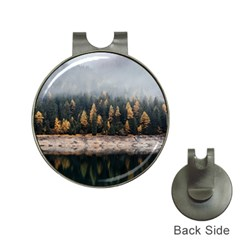 Trees Plants Nature Forests Lake Hat Clips With Golf Markers