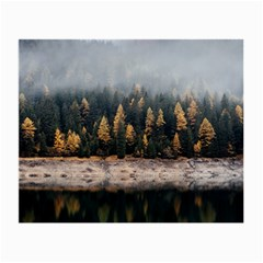 Trees Plants Nature Forests Lake Small Glasses Cloth by Celenk