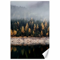 Trees Plants Nature Forests Lake Canvas 24  X 36  by Celenk