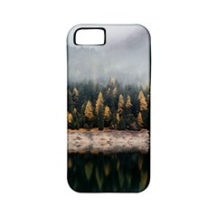 Trees Plants Nature Forests Lake Apple Iphone 5 Classic Hardshell Case (pc+silicone) by Celenk