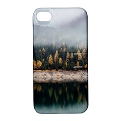 Trees Plants Nature Forests Lake Apple Iphone 4/4s Hardshell Case With Stand by Celenk