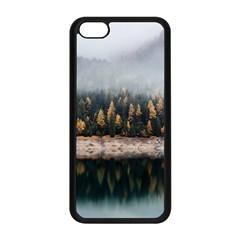 Trees Plants Nature Forests Lake Apple Iphone 5c Seamless Case (black) by Celenk