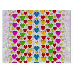 So Sweet And Hearty As Love Can Be Rectangular Jigsaw Puzzl by pepitasart