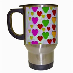 So Sweet And Hearty As Love Can Be Travel Mugs (white) by pepitasart