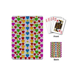 So Sweet And Hearty As Love Can Be Playing Cards (mini)  by pepitasart
