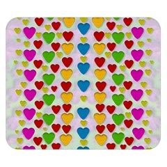 So Sweet And Hearty As Love Can Be Double Sided Flano Blanket (small)  by pepitasart