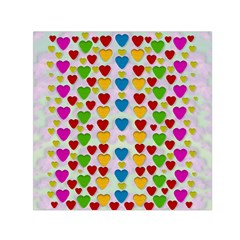 So Sweet And Hearty As Love Can Be Small Satin Scarf (square) by pepitasart