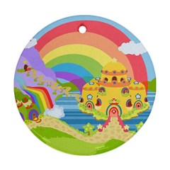 Rainbow Land Round Ornament by Ellador