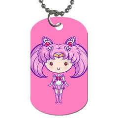 Cutie Chibimoon/saturn Dog Tag (two-sided)  by Ellador