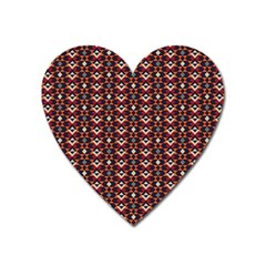 Native American Pattern 22 Heart Magnet by Cveti