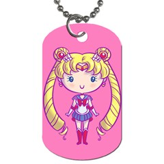 Cutie Moon/chibimoon Dog Tag (two Sided)