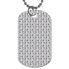 Native American Pattern 24 Dog Tag (two Sides) by Cveti