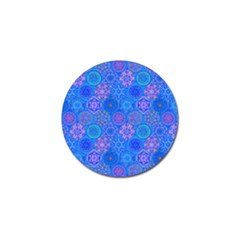 Geometric Hand Drawing Pattern Blue  Golf Ball Marker (4 Pack) by Cveti