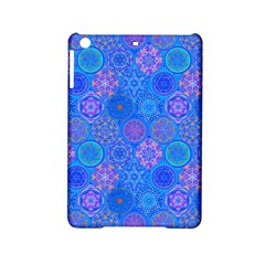 Geometric Hand Drawing Pattern Blue  Ipad Mini 2 Hardshell Cases by Cveti