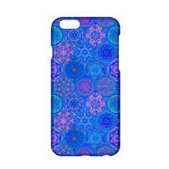Geometric Hand Drawing Pattern Blue  Apple Iphone 6/6s Hardshell Case by Cveti