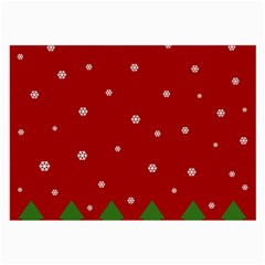 Christmas Pattern Large Glasses Cloth (2 Side) by Valentinaart