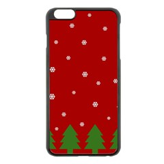 Christmas Pattern Apple Iphone 6 Plus/6s Plus Black Enamel Case