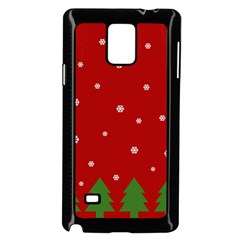 Christmas Pattern Samsung Galaxy Note 4 Case (black) by Valentinaart