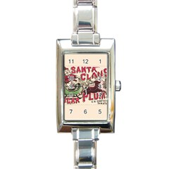Vintage Santa Claus  Rectangle Italian Charm Watch by Valentinaart