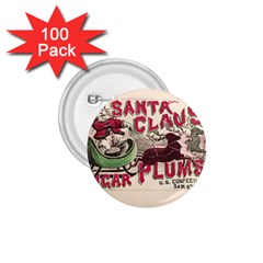 Vintage Santa Claus  1 75  Buttons (100 Pack)  by Valentinaart