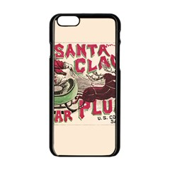 Vintage Santa Claus  Apple Iphone 6/6s Black Enamel Case by Valentinaart