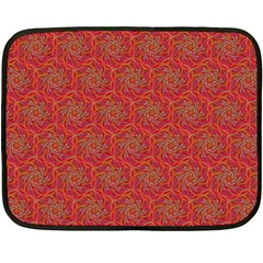 Whirligig Pattern Hand Drawing Orange 01 Double Sided Fleece Blanket (mini)  by Cveti