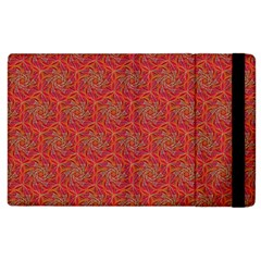 Whirligig Pattern Hand Drawing Orange 01 Apple Ipad 3/4 Flip Case by Cveti