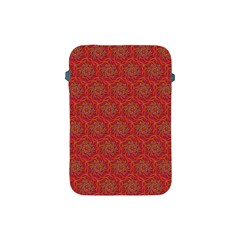 Whirligig Pattern Hand Drawing Orange 01 Apple Ipad Mini Protective Soft Cases by Cveti