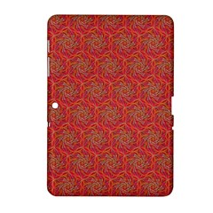 Whirligig Pattern Hand Drawing Orange 01 Samsung Galaxy Tab 2 (10 1 ) P5100 Hardshell Case  by Cveti