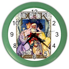 Vintage Santa Claus  Color Wall Clocks by Valentinaart
