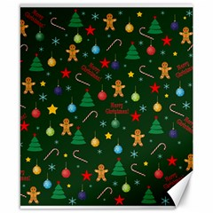 Christmas Pattern Canvas 8  X 10  by Valentinaart