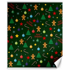 Christmas Pattern Canvas 16  X 20   by Valentinaart