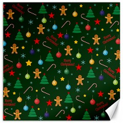 Christmas Pattern Canvas 20  X 20   by Valentinaart