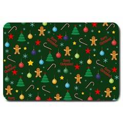 Christmas Pattern Large Doormat  by Valentinaart