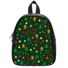 Christmas Pattern School Bag (small) by Valentinaart