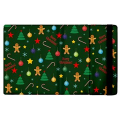 Christmas Pattern Apple Ipad 2 Flip Case by Valentinaart