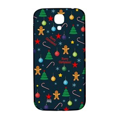 Christmas Pattern Samsung Galaxy S4 I9500/i9505  Hardshell Back Case by Valentinaart