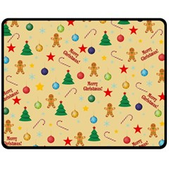 Christmas Pattern Fleece Blanket (medium)  by Valentinaart