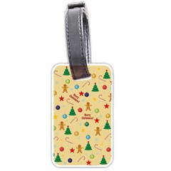Christmas Pattern Luggage Tags (one Side)