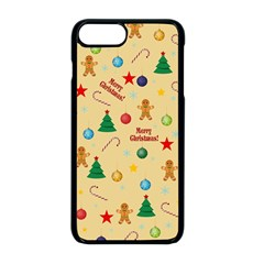 Christmas Pattern Apple Iphone 8 Plus Seamless Case (black) by Valentinaart