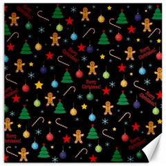 Christmas Pattern Canvas 12  X 12   by Valentinaart