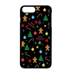 Christmas Pattern Apple Iphone 7 Plus Seamless Case (black) by Valentinaart