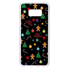 Christmas Pattern Samsung Galaxy S8 Plus White Seamless Case by Valentinaart