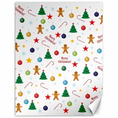 Christmas Pattern Canvas 12  X 16   by Valentinaart