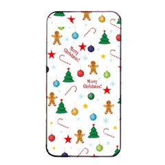 Christmas Pattern Apple Iphone 4/4s Seamless Case (black) by Valentinaart