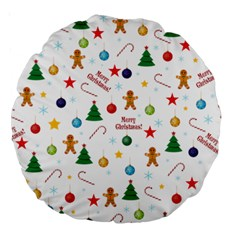 Christmas Pattern Large 18  Premium Round Cushions by Valentinaart